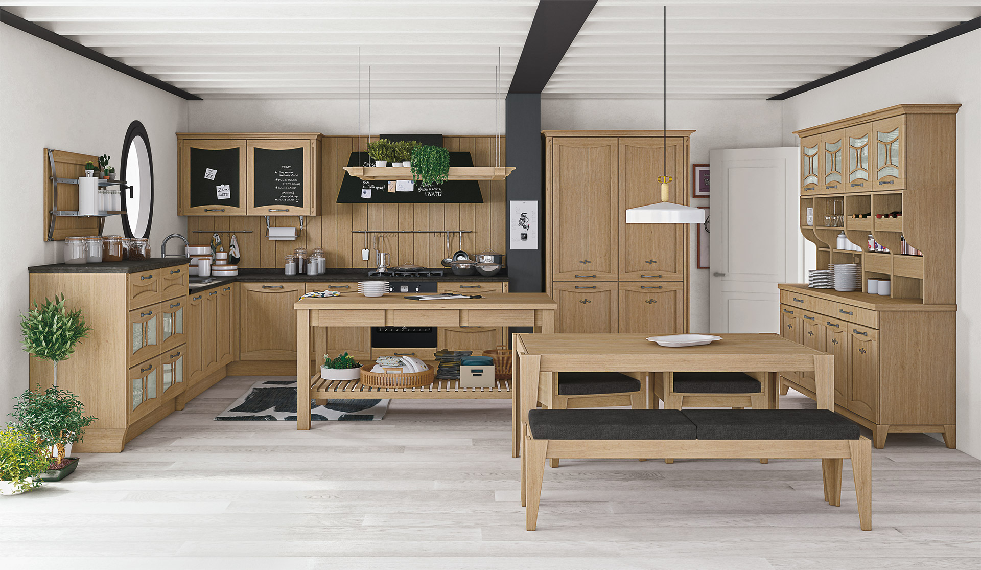 Cucina country lube aurea creo kitchens for Tavolo cucina kyra