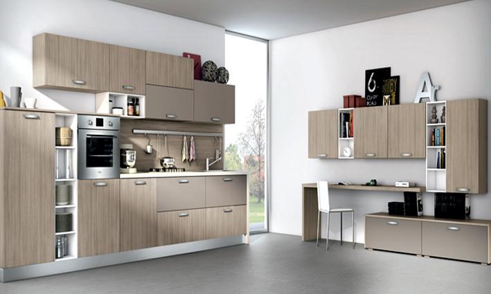 Cucina moderna elegante e colorata