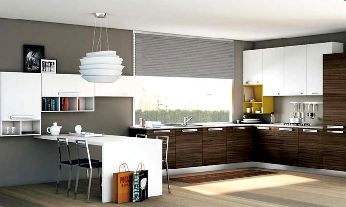 cucina e zona living binomio perfetto