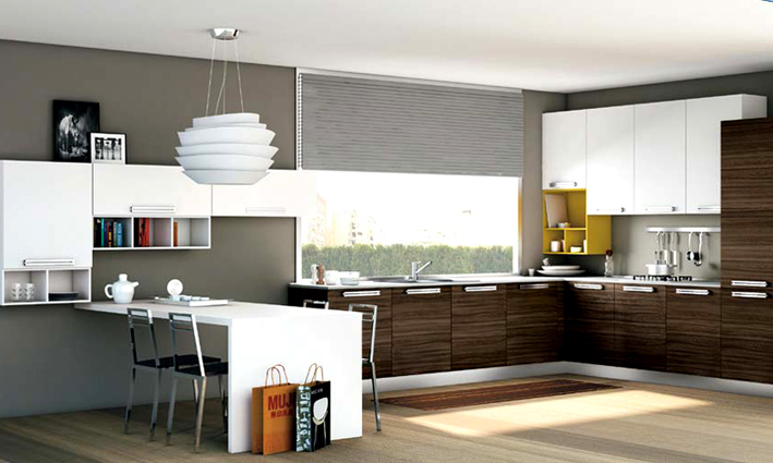 Cucina e zona living binomio perfetto - Cucina open space con isola ...