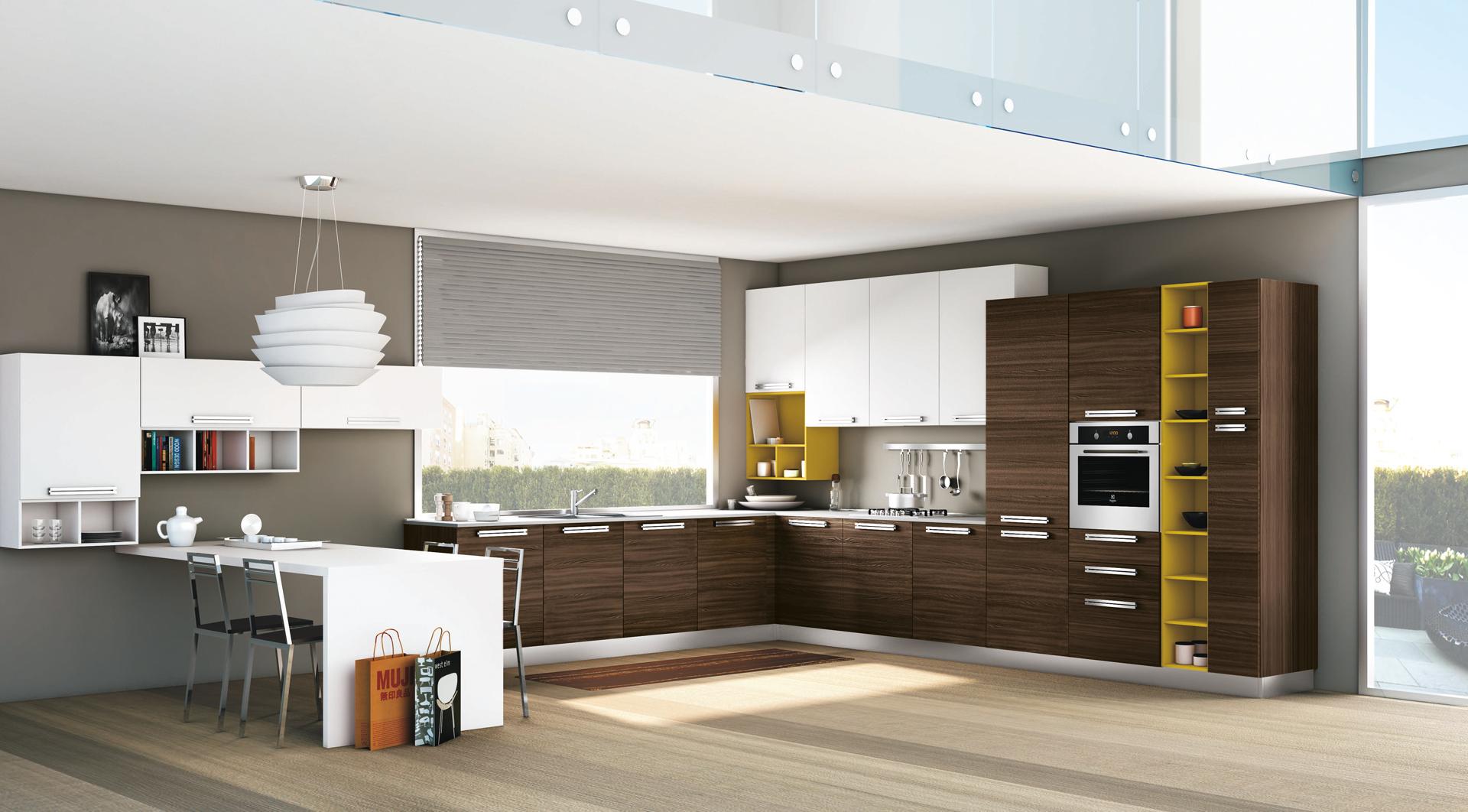 Cucina moderna lube inka creo kitchens for Cucine moderne scure