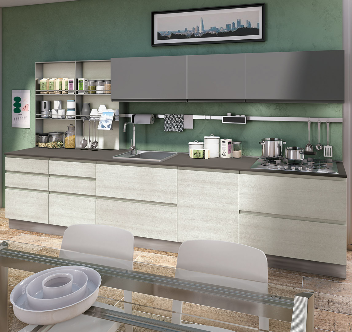 Cucina moderna jey jey creo kitchens for Accessori per cucina moderna
