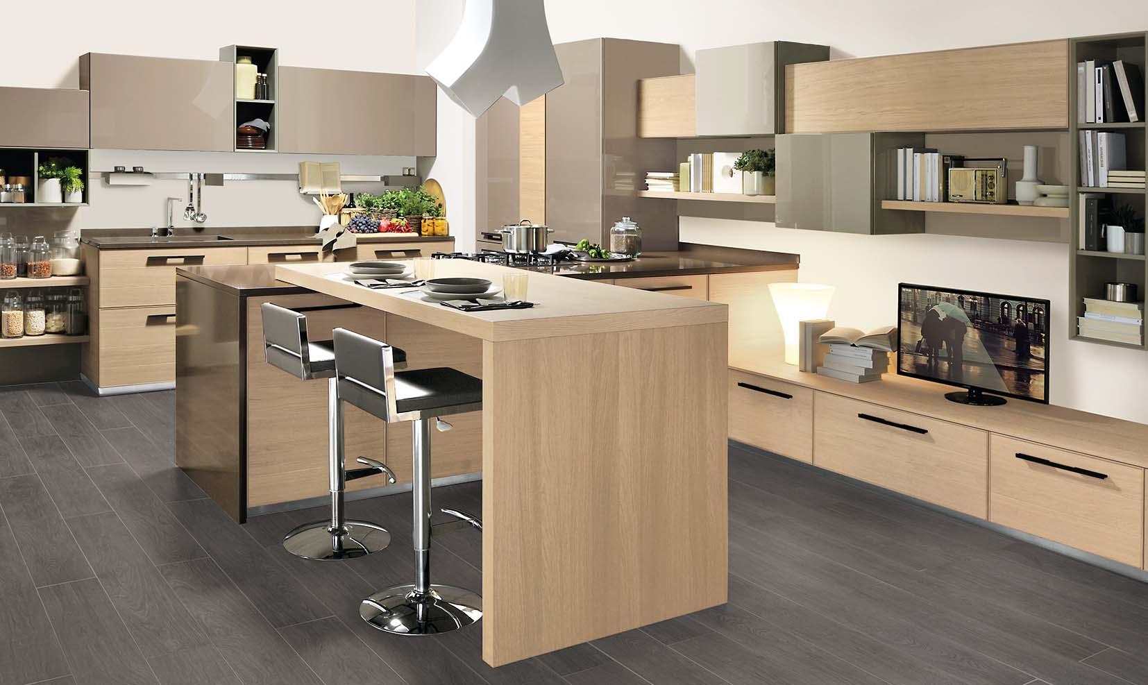 Le cucine ad isola moderne e multifunzionali - Cucine in linea moderne ...