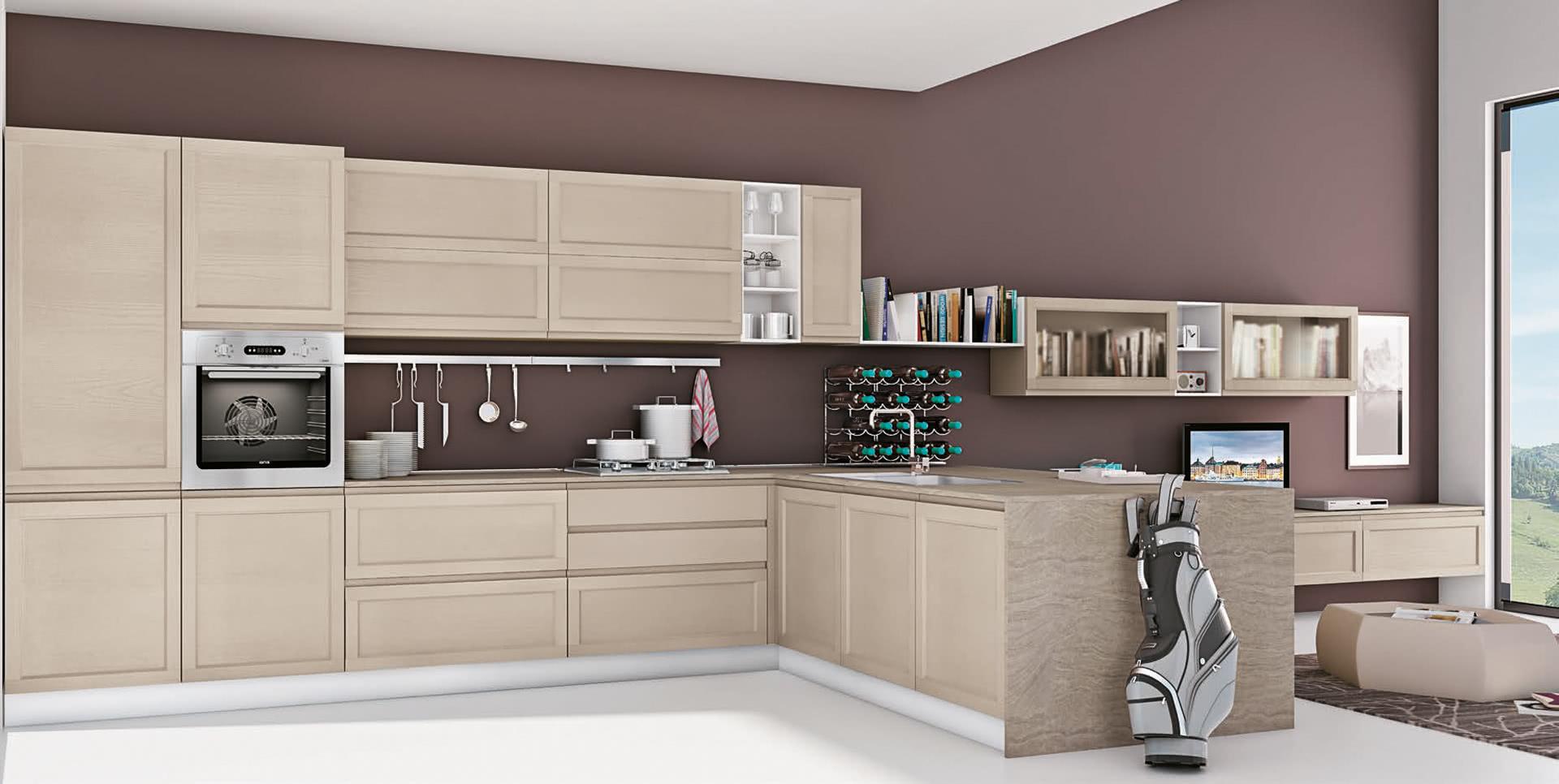 Cucina classica lube selma creo kitchens - Cucine lineari classiche ...